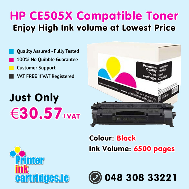 Shop online for High Volume Compatible HP CE505X Toner Cartridge at Low Prices